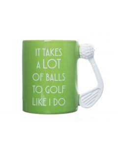 GOLF MUG TAKES A LOT OF BALLS