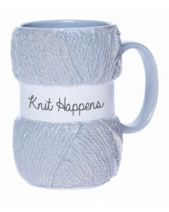 KNITTING MUG - KNIT HAPPENS