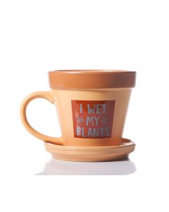 PLANT POT MUG - I WET MY PLANTS