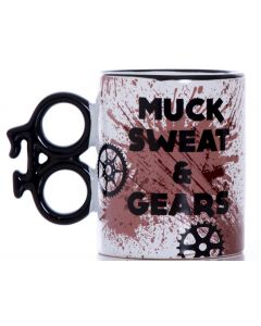 MUCK SWEAT & GEARS 14OZ MUG WITH BIKE SHAPED HANDLE