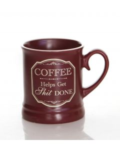 VICTORIANA MUG - COFFEE HELPS (10OZ)