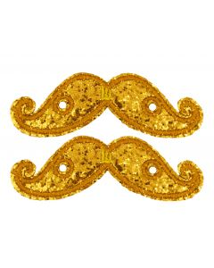 SHWINGS - MOUSTACHE - GOLD SPK- LACE