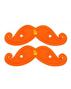 SHWINGS - MOUSTACHE - ORANGE NEON- LACE