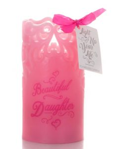 WAX FLAMELESS CANDLE - DAUGHTER