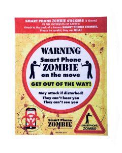 SMART PHONE ZOMBIE STICKERS