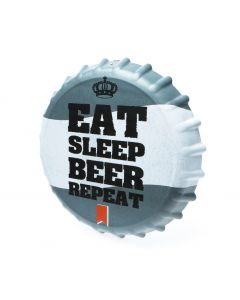 BOTTLE CAP SIGN - EAT SLEEP BEER REPEAT