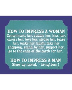 PLAQUE - IMPRESS A WOMAN