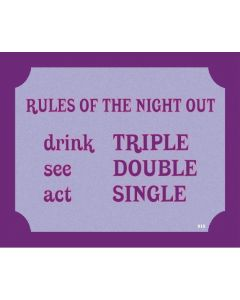PLAQUE - RULES NIGHT OUT