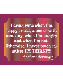 PLAQUE - WINE MADAME BOLLINGER