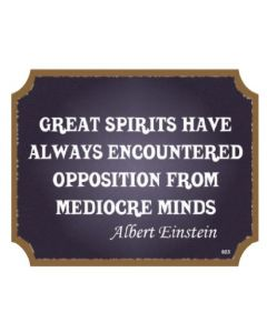 PLAQUE - GREAT SPIRITS EINSTEIN