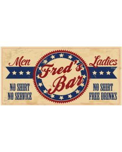 BAR SIGNS - FRED