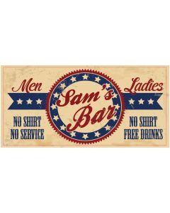 BAR SIGNS - SAM