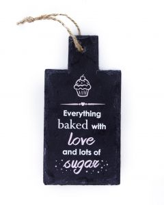 SLATE KITCHEN SIGN - BAKED WITH LOVE