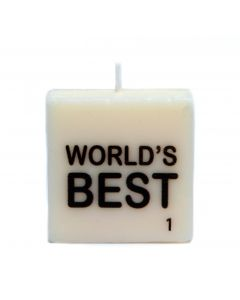 """WORLD'S BEST"" SYMBOL CANDLE"