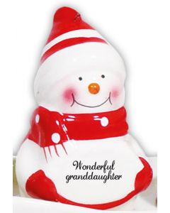 SNOWMAN DECORATION - WONDERFUL GRANDDAUG