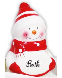 SNOWMAN DECORATION -  BETH
