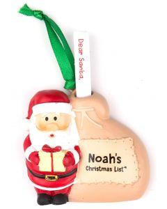 SANTA LIST SACK - NOAH