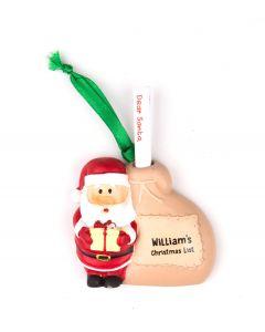 SANTA LIST SACK - WILLIAM