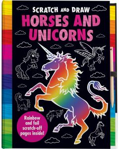 "SCRATCH ""&"" DRAW"":"" HORSES AND UNICORNS"